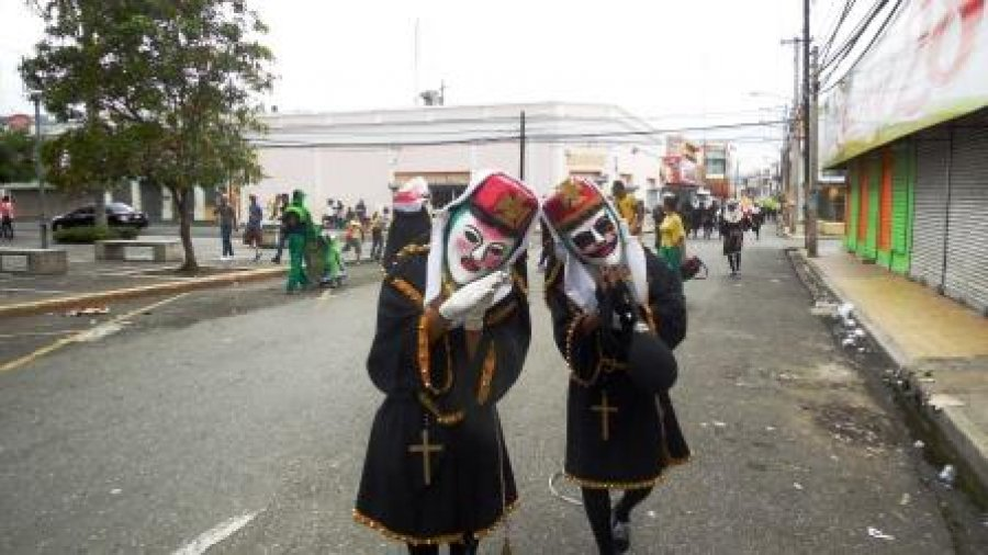 Carnaval black with cross costumes