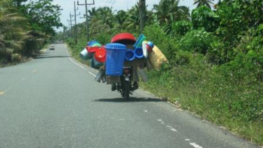 Loaded motorcycle